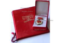 Albania Order of the 40th Anniversary of the Albanian Labor Party Boxed with Diploma to Female Recipient
