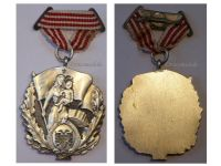 Albania Order Motherhood Glory 3rd Class Civil Medal Decoration Albanian People's Republic Enver Hoxha