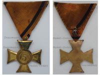 Austria Cross 2nd Class for 5 Years Long Military Service to NCOs & Other Ranks 1st Austrian Republic 1918 1938
