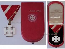 Austria Decoration Merit Austrian 1st Republic Silver Cross VII Class Civil Military Medal 1922 1938 Boxed by Reitterer