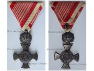 Austria Hungary WWI Iron Cross for Merit with Crown 1916 in Iron