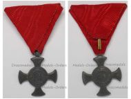 Austria Hungary WWI Iron Cross for Merit 1916 in Zinc