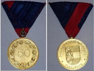 Austria WW2 WW1 Veterans Union Saltzburg Military Medal 50 years membership WWI WWII 1914 1918 1939 1945