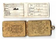 """Austria Hungary WWI Officer's Legitimization Case (Dog Tag) of a Captain of the Infantry Regiment N.52 """"Baikovitz"""""""
