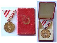 Austria WWI Commemorative Medal without Swords for Non Combatants 1st Austrian Republic Boxed