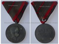 Austria Hungary WWI Wound Medal Laeso Militi for Single Wound Marked W&A 1918