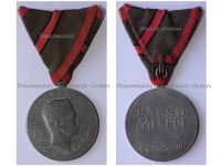 Austria Hungary WWI Wound Medal Laeso Militi for Single Wound Marked GW 18