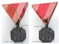 Austria Hungary WWI Kaiser Karl's Cross of the Troops 1917 Maker MKT