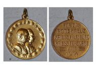 Austria Hungary WWI Patriotic Red Cross Medal United Kaisers Franz Joseph Wilhelm II Gold Class