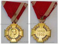 Austria Hungary Diamond Jubilee Cross 60th Anniversary Reign Kaiser Franz Joseph 1848 1908 for Court Service Members