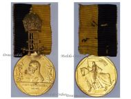 Austria Hungary Diamond Jubilee Celebration Kaiser Franz Joseph Medal 1848 June 1908 KuK Austro Hungarian Empire