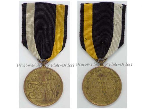Austria Combatants Commemorative Military Medal 2nd Schleswig War vs Denmark 1864 Austrian Decoration