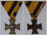 Austria Hungary Cross Long Military Service XII Years 2nd Class for NCO and Enlisted Men 1890 1913