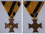 Austria Hungary Cross Military Long Service XII years II Class NCO 1890 1913 Medal Kaiser KuK Decoration