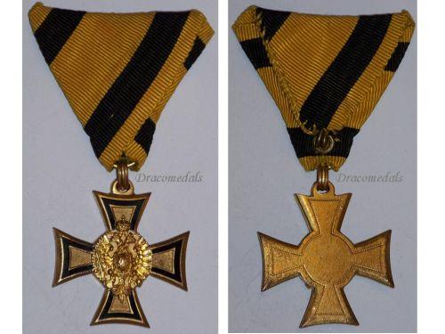 Austria Officer's Cross Military Long Service 2nd Class 40 years 1890 1918 Medal Kaiser KuK Decoration WW1 Great War