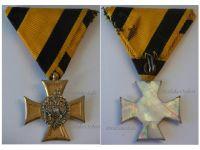 Austria Officer's Cross Military Long Service 3rd Class 25 years 1890 1918 Mother Pearl Medal Kaiser KuK Decoration WW1 Great War
