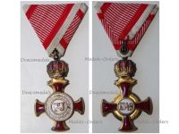 Austria Hungary Gold Merit Cross Crown Viribus Unitis 1849 by Wilhelm Kunz