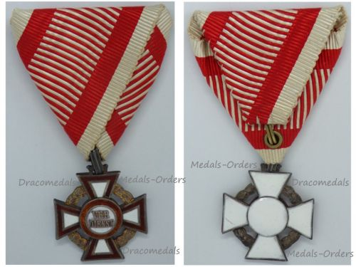 Austria Hungary WWI Cross of Military Merit III Class Marked by the Vienna Mint & V. Mayers