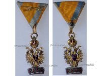 Austria Hungary Imperial Order Iron Crown 3rd Class Knight Crossed Swords