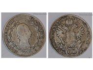 Austria Hungary KuK 20 Kreuzer Coin 1830 A silver Kaiser Franz I (II) Habsburg Austro Hungarian Empire