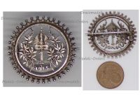 Austria Hungary WWI Silver New Year's Day 1915 Cap Badge