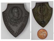 Austria Hungary WWI Battle Group Landro 1916 Cap Badge Archduke Eugen Italian Front Great War 1914 1918 Maker Schneider