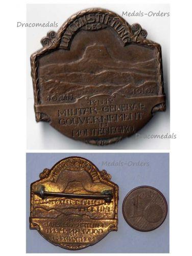 Austria Hungary WW1 Mount Lovcen Montenegro Military Government 1916 Cap Badge Patriotic Great War 1914 1918 Maker Gurschner