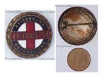 Austria Hungary WWI War Offer Red Cross Cap Badge 1914 1918