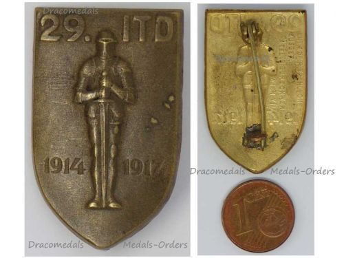 Austria Hungary WWI 29th Infantry Division Cap Badge 29 ITD 1914 1917 Great War WW1 1918 by Guschner