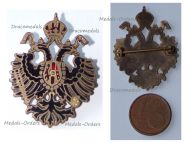 Austria Hungary WWI Double Headed Eagle Cap Badge 1914 1918