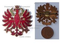 Austria Hungary WWI Eagle of Tyrol Cap Badge 1914 1918
