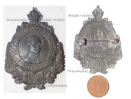 Austria Hungary WWI Archduke Karl Franz Joseph Heir to the Throne Tirol 1916 Cap Badge by Schneider