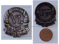 Austria Hungary WW1 KuK VI Army Corps General Arz Cap Badge Patriotic Great War 1914 1916