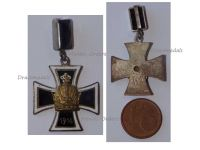 Austria Hungary WWI Pendant Iron Cross with the Austrian Imperial Crown 1914 Marked W & Gesch