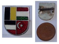 Austria Hungary WWI Central Powers Flags Cap Badge Shield