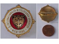 Austria Hungary WW1 International Middle Class Congress Cap Badge 1908 Vienna KuK Austro-Hungarian Empire