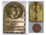 """Austria Hungary WWI Mackensen Army Group Cap Badge """"With Joint Forces"""" 1914 1915 by Gurschner"""