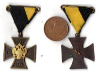 Austria Hungary WW1 Double Headed Eagle Cross Patriotic Badge Military Medal Gott Mit Uns Great War 1914 1918