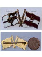 Austria Hungary WWI German Imperial Navy KuK Fleet Austro-Hungarian Ensigns Cap Badge