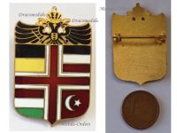 Austria Hungary Germany Ottoman Empire Flags WW1 Badge Double Headed Eagle KuK Patriotic Central Powers WWI Great War 1914 1918