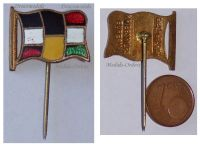 Austria Hungary WWI Central Powers Flags Cap Badge Stickpin by the Office for War Effort