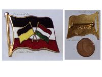 Austria Hungary WWI Central Powers Flags Cap Badge Marked Ges Gesch