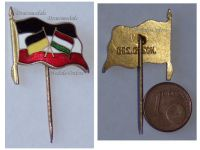 Austria Hungary Germany WW1 United Empires Flags Cap Badge KuK Stick Patriotic Pin Central Powers WWI Decoration Great War 1914 1918