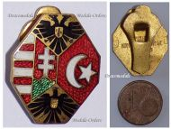 Austria Hungary Germany Ottoman Empire WWI Lapel Pin Badge Flags Double Headed Eagle Marked BS&Co