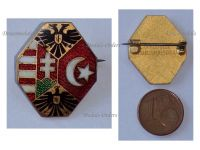 Austria Hungary WWI Central Powers Flags Imperial Eagles Cap Badge by the Office for War Supplies
