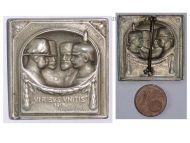 Austria Hungary WWI Cap Badge Viribus Unitis United Kaisers 1915 by Schwarz