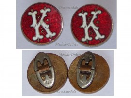 Austria Hungary WW1 KuK Cufflinks set Patriotc 1914 1918 Great War Austro Hungarian Empire Maker M&K