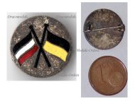 Austria Germany WW1 United Empires Crossed Flags Cap Badge KuK Patriotic Pin Central Powers WWI Decoration Great War 1914 1918