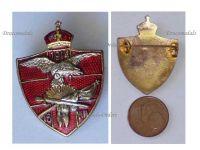 Austria Hungary WWI Formation Polish Volunteers Battalion Cap Badge Eagle of Poland 16 VIII 1914