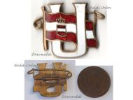 Austria Hungary WW1 Submarine Uboat Veterans League Badge KuK Fleet Austro-Hungarian Navy WWI 1914 1918 Great War